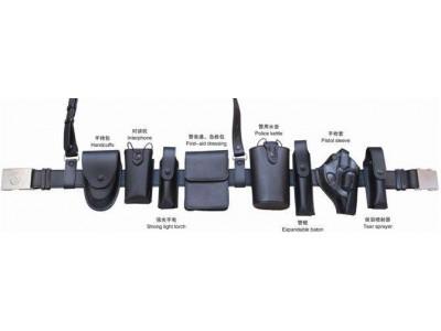黑色皮质警用多功能腰带-中安联合