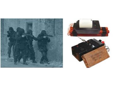 人体炸弹识别爆炸物训练箱