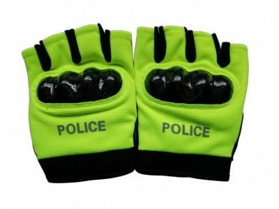 MLD-206     特警半指手套 荧光黄色骑行半指手套 武警战术手套