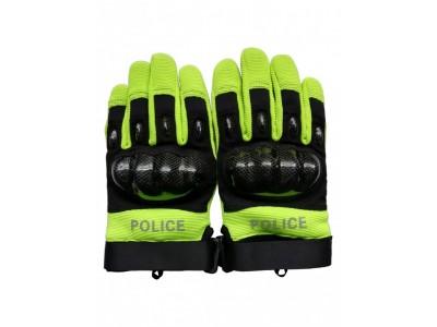 MLD-207 特警全指手套 荧光黄色骑行全指手套 武警战术手套