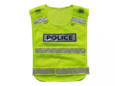 MLD-001 网眼布反光透气背心   交警执勤安全背心