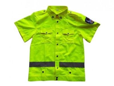 MLD-069  新款短袖执勤服  荧光黄短袖衬衫 夏季防护服