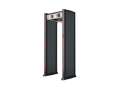 第六代 高精度远程红外测温+金属探测安检门