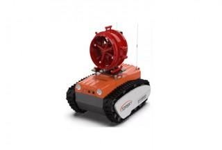 防爆消防高倍数泡沫灭火侦察机器人,遥控距离1500米,防爆等级高,石化危化火灾救援都在用