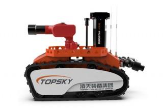 【视频】这款消防机器人,可以灭火侦察,更可以运输救援器材